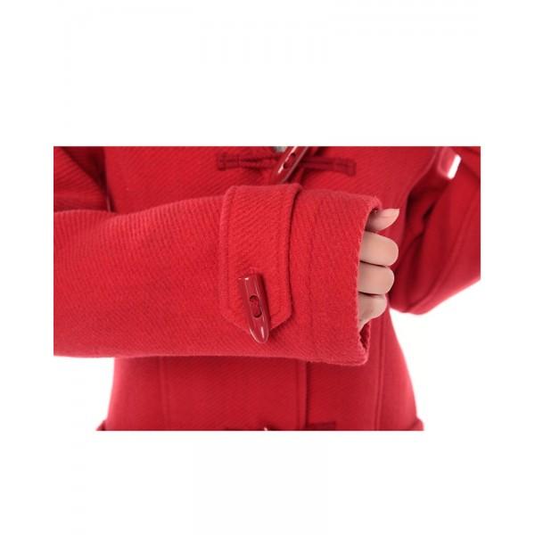 punainen villakangastakki Kouvola
