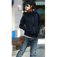 Zipper Long Sleeve Cotton Women Hoodie
