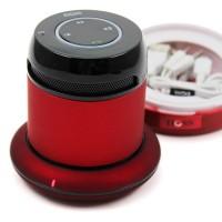 En superbra bluetooth högtalare som du kan ansluta till t.ex. din mobil eller bärbara dator. Högtalaren fungerar även vid behov som handsfree-enhet.