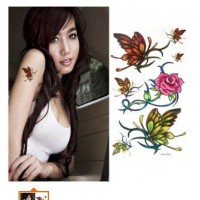 Butterflies and Flower Tattoo Set  Tatuointitarrakokoelma
