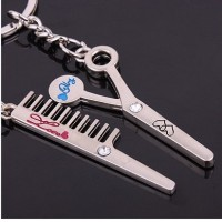 Keychain  Scissors & Comb
