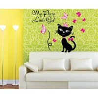 Removable Wall Stickers  Pretty cat