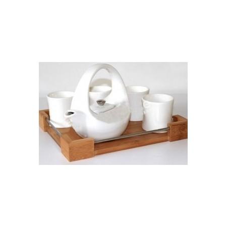 White tea set - Valkoinen teesetti