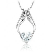 The crystal necklace is an elegant, simple and classic accessories for the ladies.