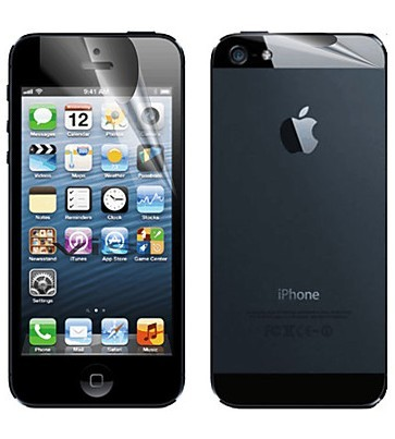 iPhone 5 matt skydd fram/bak
