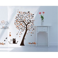 Removable wall stickers  Love cat