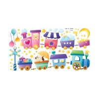 Removable wall stickers  Trains