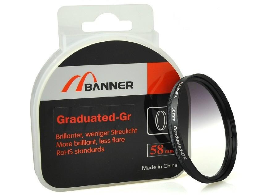 Harmaa gradienttisuodin 55-67mm