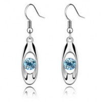 Crystal Earring   Oval