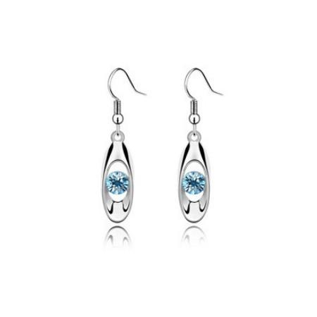 Oval Crystal Earring - Kristallikorvakorut - Punainen