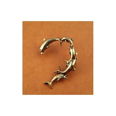 Antique Bronze Ear Clip - Delffiini-korvakoru