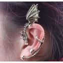 Antique Bronze Clip Earring | Lohikäärme-korvakoru