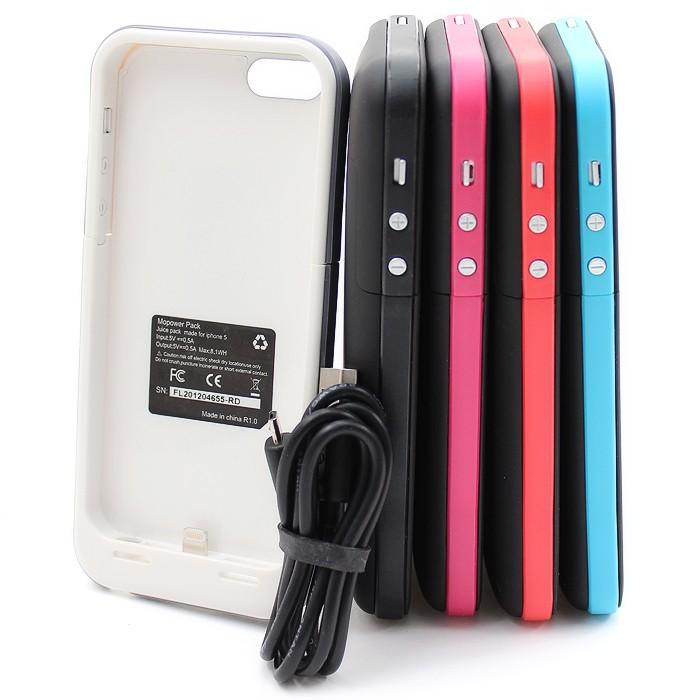 Akkusuojakuori iPhone 5 / 5S -puhelimelle, 2200mAh