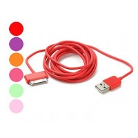 iPhone4/iPad/iPod  Cable USB Colorido 200cm