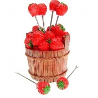 Fruit fork  Strawberry shape