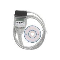 Toyota Techstream TIS OBD2 USB-kaapeli. Kaapeli tukee TIS OEM diagnostiikkaohjelmistoa. Yhteensopiva vuodesta 1996 tehtyihin malleihin.