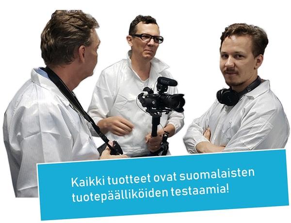 Suomalaisten testaamia