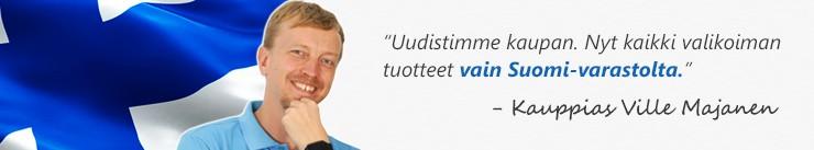 Tuotteet vain Suomi-varastolta